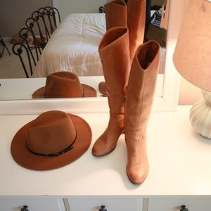 Sam Edelman Knee-High Tan Leather Boots Size 6.5